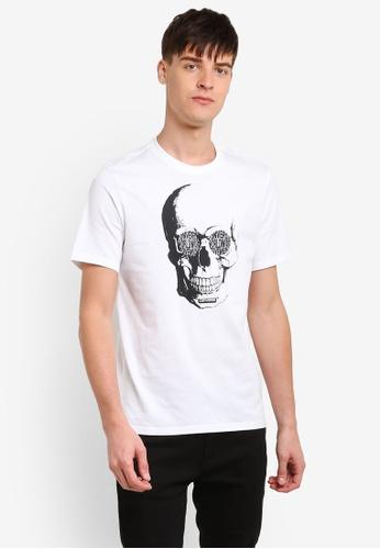 Converse white Van De Wall Skull T-Shirt CO302AA0RZZ8MY_1