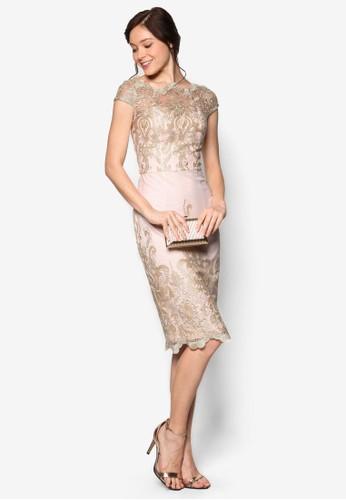 Chi Chi Stacia 刺繡蕾絲連身裙、 服飾、 洋裝CHICHILONDONChiChiStacia刺繡蕾絲連身裙最新折價