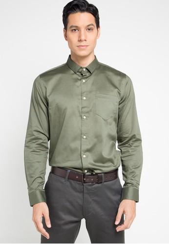Manzone green BEAGLE-OLIVE LS Shirt 8CA98AABE65C47GS_1