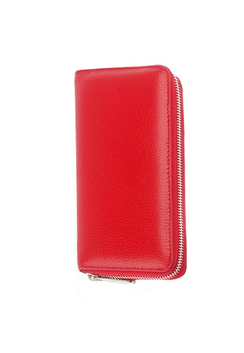 Twenty Eight Shoes red VANSA Top Layer Cowhide Bi-Fold Long Wallet VBU-Wt0629 FE32BACC56118EGS_1