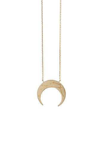 fdeec9928ef45f Buy Wanderlust + Co Wanderlust + Co Crescent Taurus Zodiac Gold Necklace |  ZALORA HK