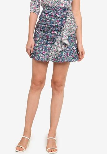 Pepe Jeans multi Tula Floral Ruffle Mini Skirt 196FEAA987091EGS_1