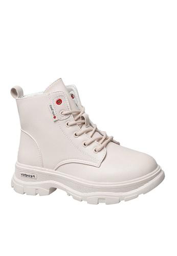 Twenty Eight Shoes white Stylish Lace Up Boots VB1901 712A3SHAC754E2GS_1