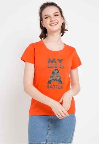 Giordano orange Message T-Shirt 89325AA131006CGS_1