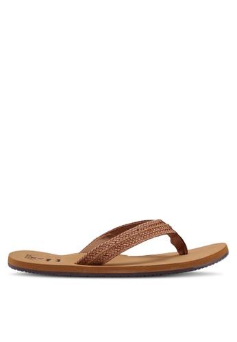 Billabong 褐色 編織繞帶涼鞋 AF46FSHD0EE1A6GS_1
