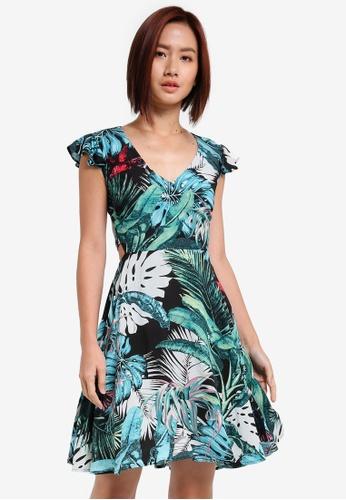 ZALORA multi Open Back Fit And Flare Dress F0CA9AA9581BE3GS_1