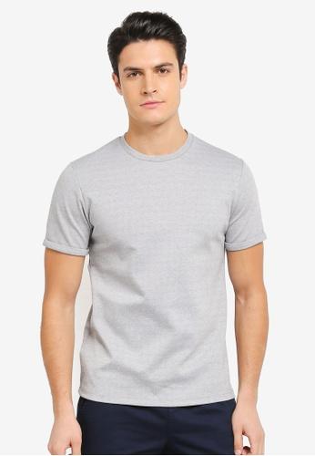 ZALORA grey Textured Jersey Boxy Tee 410DEAA49311BFGS_1