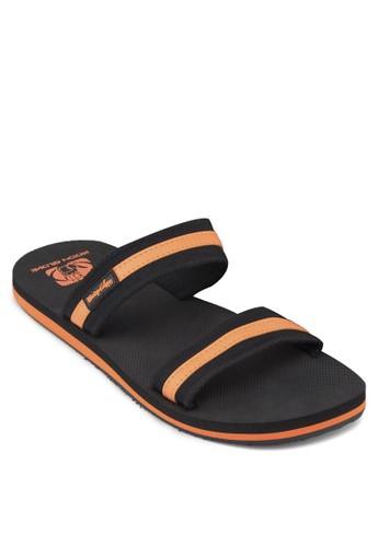 撞色滾邊寬帶拖鞋, 鞋esprit au, 鞋