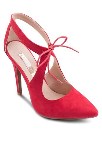 鏤空尖頭麂皮高zalora退貨跟鞋, 女鞋, 鞋