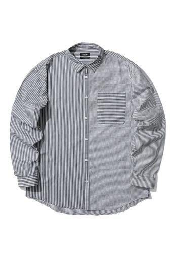 Fivecm black Stripe pocket shirt 5FAC1AAD500AD9GS_1