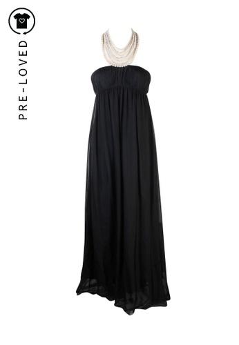 Aidan Mattox black Pre-Loved aidan mattox Beads Neck Embellished Gown A7A17AA031357DGS_1