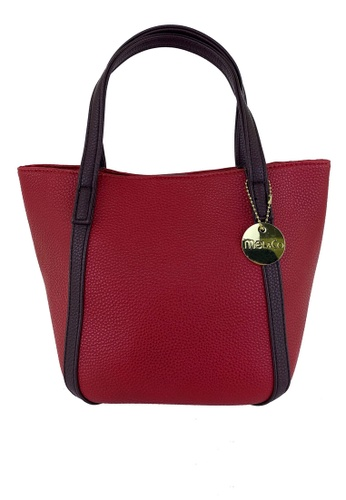 Mel&Co red Faux Leather Casual Bag 3124CACCF0310EGS_1