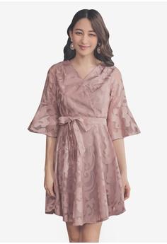 3387b8d71afe1d Yoco pink Short Sleeve Lace Dress 77CEBAA1EFF24BGS 1
