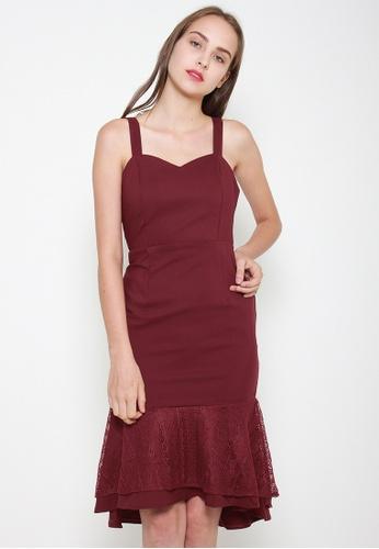 Leline Style red Camila Ruffles Dress DC5F3AA3674609GS_1
