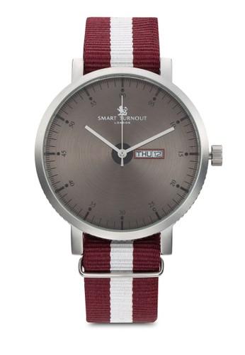 City Harvard 條紋錶帶手錶, 錶類,zalora是哪裡的牌子 飾品配件