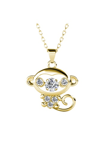 Her Jewellery gold 12 Dancing Zodiac Pendant (OX) YG- Made with premium grade crystals from Austria 0A8BCAC87AAD47GS_1