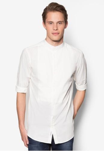 中式領長袖襯衫,esprit 手錶 服飾, 襯衫