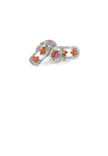 Glamorousky multi Cutie Red Shoes Earrings with multi-color CZ 580B1AC8F03B9EGS_1