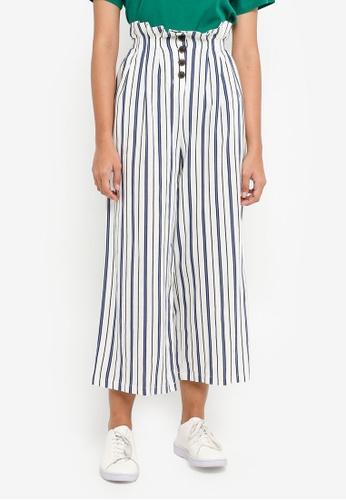 TOPSHOP blue Stripe Button Trousers 7D091AA7D540BCGS_1