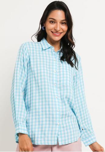 Lois Jeans blue Gingham Tencel Kc735 27294AA6BB8D6DGS_1