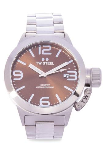 TW Steel silver CB21 Canteen Bracelet Analog Watch TW310AC0KMAKPH_1