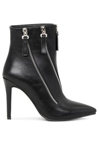 London Rag 黑色 黑色拉链靴子 SH1706 A7434SHDD69CFFGS_1