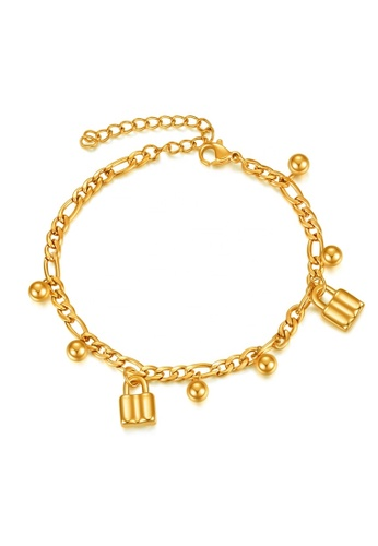 CELOVIS gold CELOVIS - Commitment Padlock Pendant Bracelet in Gold C131DAC5F027AEGS_1