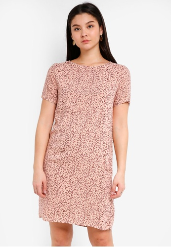 ICHI pink Veru Dress 92804AAEA9E6DFGS_1