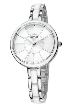 KIMIO Women's Twotone Ceramic Strap Watch K495