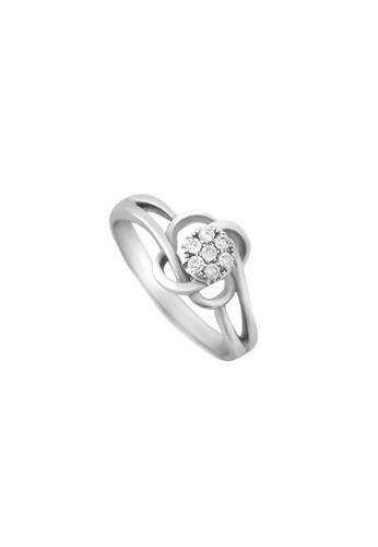 TOMEI white TOMEI Ring of Floriated Fulgence, Diamond White Gold 375 (R2475) - Size 12 EB85BACDBC361EGS_1