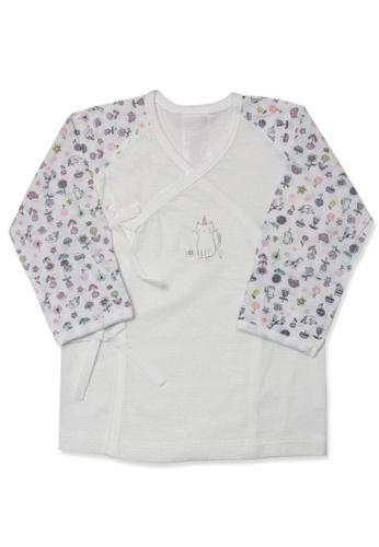 Organic mom white Zoo Love Newborn Gown (SPRING/SUMMER) 9E15CKA779D6F6GS_1