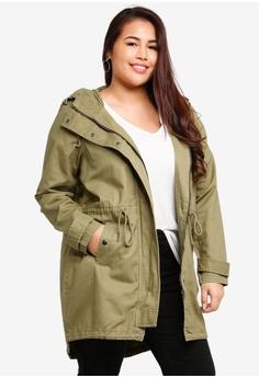 a4ea0cd1dbe Junarose green Plus Size Jaliva Solid Long Sleeve Parka Jacket  F6189AA59938FAGS 1
