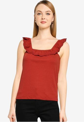 JACQUELINE DE YONG red Ebba Sleeveless Top 69E3AAACE9AB73GS_1