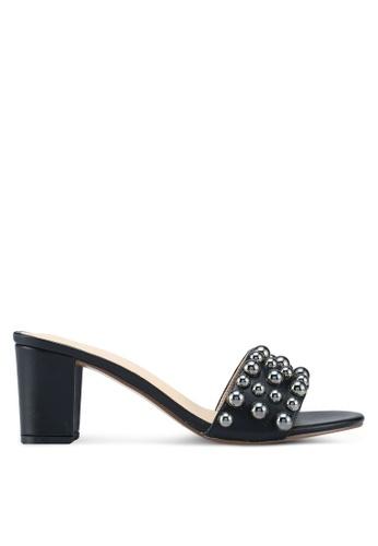 Something Borrowed black Ball Studded Heels 375E0SHE710F60GS_1