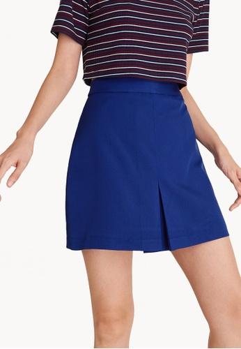 Pomelo blue Mini High Waisted Center Pleat Skirt 01794AA5DE0107GS_1