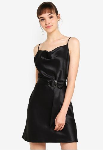 9050a94c3dea Buy River Island Cowl Neck Belted Slip Dress Online on ZALORA Singapore