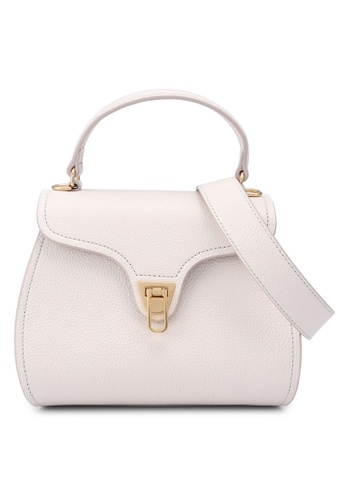 Coccinelle white Marvin Top Handle Bag 7E475ACEE4A348GS_1