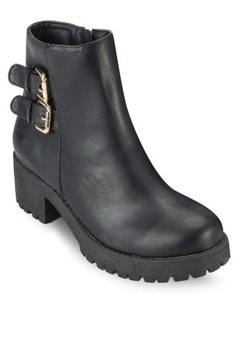 Theo 雙扣環厚底短靴esprit taiwan, 女鞋, 鞋