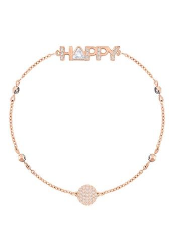 Swarovski gold Remix Strand Happy Bracelet 2DCC3AC6F17C3FGS_1