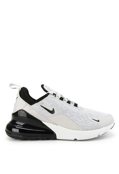 detailed look 6abba ff79d Nike black and grey Nike Air Max 270 Shoes 9C2B1SHE7FFD9BGS 1