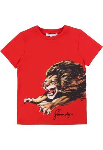 GIVENCHY KIDS red GIVENCHY BOYS T-SHIRT 1FB76KA008FD68GS_1
