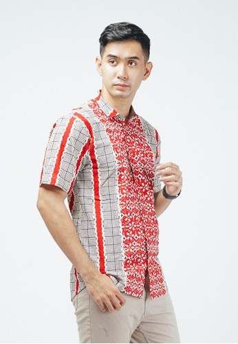 ENOM black and red Shylla Shirt 1CBFEAA26A7DAFGS_1