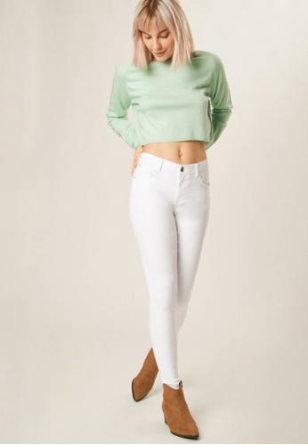 Terranova white Plain Push Up Effect Trousers D32E1AA4F74294GS_1