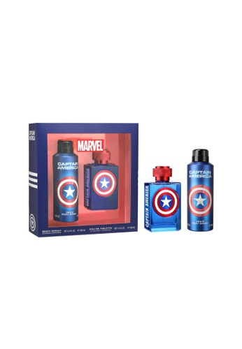Air-Val International Air-Val Captain America Gift Set - EDT 100ml + Perfume Body Spray 200ml Marvel Super Heroes Special Edition [YAV101] DC63BBE144DB1DGS_1