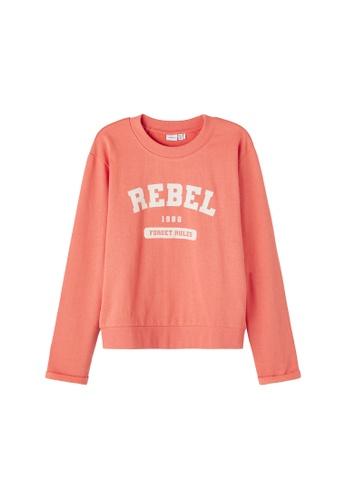 NAME IT pink Negu Printed Sweatshirt 34F05KABCEB14AGS_1