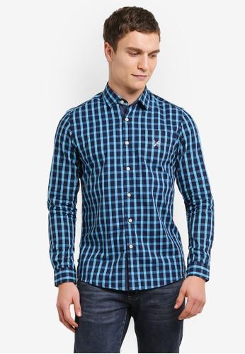 REGATTA blue and navy Poplin Shirt With Contrast Trim RE699AA0SAFZMY_1