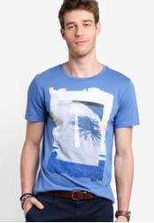 Boss Orange blue Tintype 2 T-Shirt BO434AA13MFYMY_1