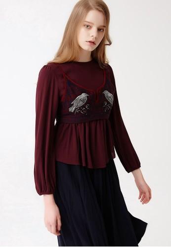 Play 兩件式胸衣雪紡上esprit retail衣, 服飾, 上衣