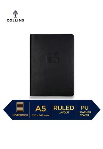 Collins grey Collins Edge Rainbow  ─  Notebook A5 Ruled Dark Grey 4067EHL45BFF5DGS_1