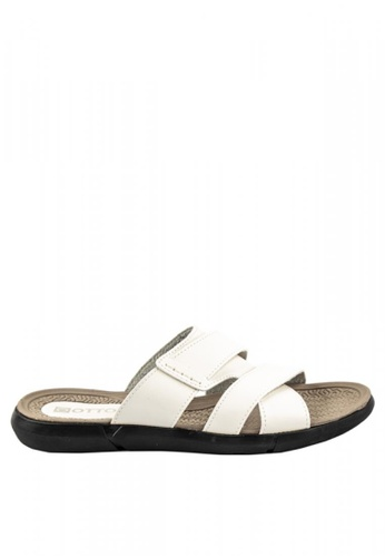 Otto white Cross-over Slide Sandals 1150ASH7C7B626GS_1
